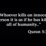 Whoever Kills a Soul Kills the Whole of Mankind