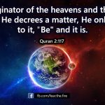 To Him is due the primal origin of the heavens and the earth