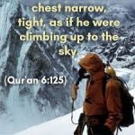 Chest contraction with increasing height - The  Quran